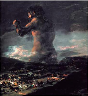Figura 1. El coloso (1808-1812), de Francisco de Goya.