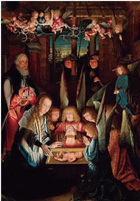Figura 8. La adoración del niño Jesús